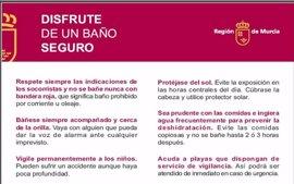 La bandera roja ondea este viernes en dos playas de Águilas y Cartagena
