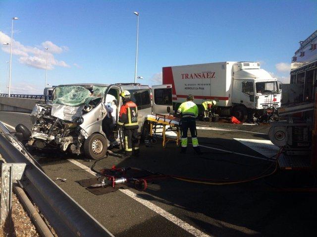 Accidente en Calahorra en la N-232