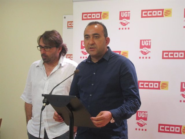 Camil Ros (UGT) y Javier Pacheco (CC.OO.)