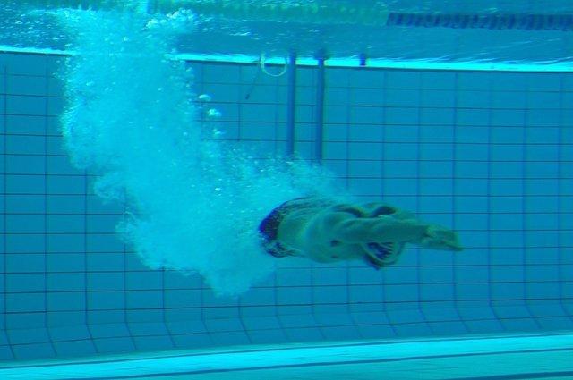 Piscina, nadar, verano, calor, buzeo, inmersión, nadador, vacaciones, agua