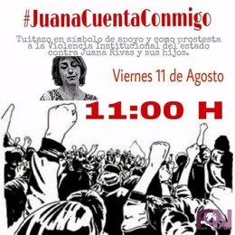 Imagen de la convocatoria de la campaña en favor de Juana Rivas en Twitter