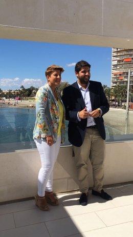 Noelia Arroyo y Fernando López Miras