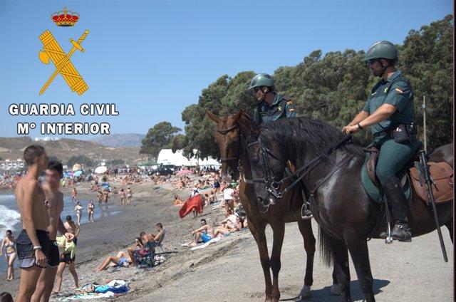 Un escuadrón de caballería velará por la seguridad en Dreambeach Villaricos
