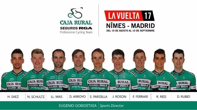 David Arroyo liderará al Caja Rural en La Vuelta