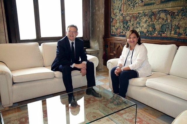 Reunión de Puig y Bonig en el Palau de la Generalitat