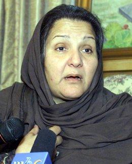 Kulsoom Nawaz, la mujer del ex primer ministro Nawaz Sharif