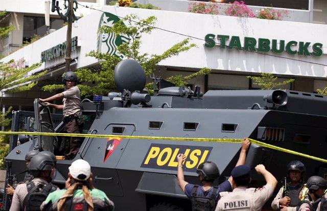 Agentes de Policía en Yakarta en una imagen de archivo