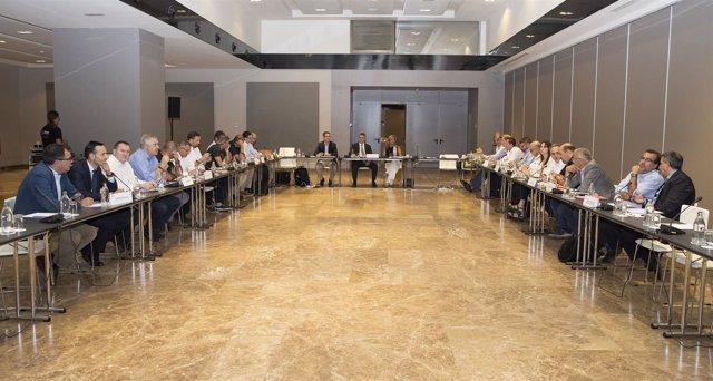Asamblea General de la Liga ACB reunida en Madrid