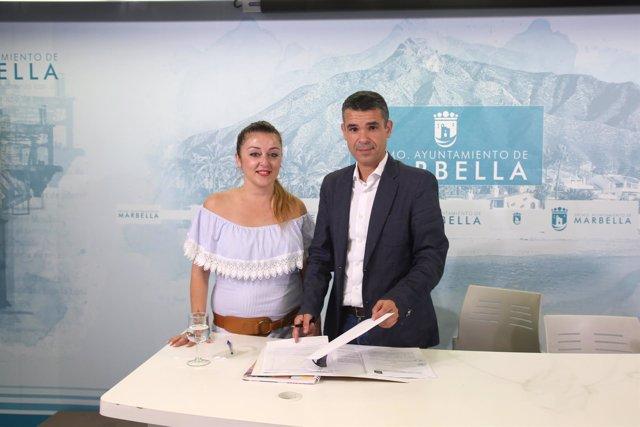 El alcalde de Marbella y la edil de Cultura