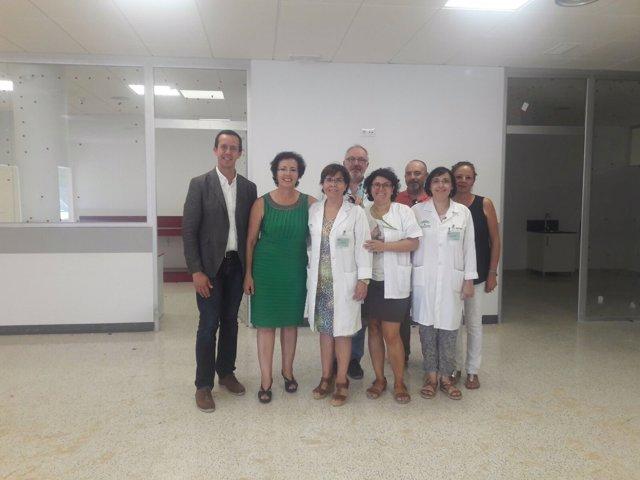 La delegada de la Junta en Almería visita el hospital La Inmaculada