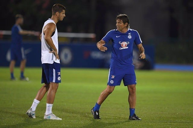 Álvaro Morata ya se entrena con el Chelsea