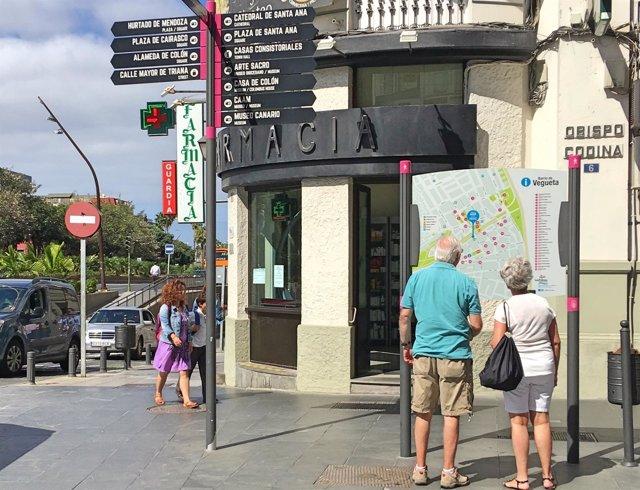 Turistas en el barrio de Vegueta