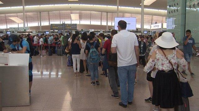 Filtres de seguretat a l'aeroport