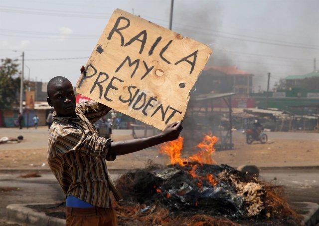 Protestas postelectorales en Kenia