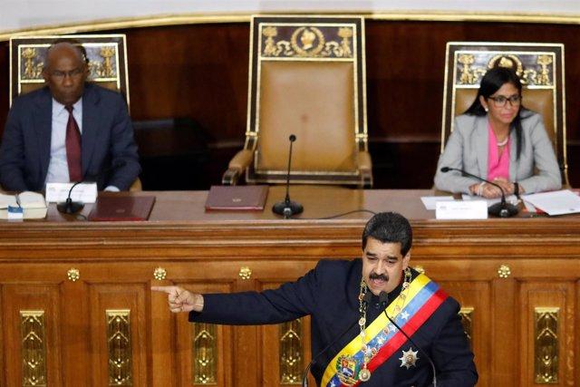 El presidente Nicolás Maduro se dirige a la ANC.