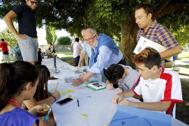 Ramón Ruiz en la 'quedada' de los campamentos del Gobierno de Cantabria
