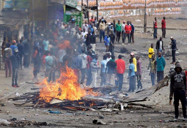 Protestas en Nairobi contra el resultado electoral