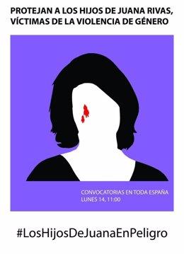 Cartel que insta a convocar concentraciones en favor de Juana Rivas
