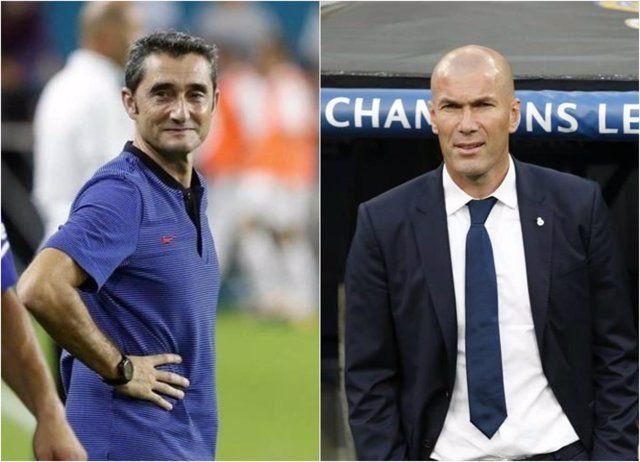 Ernesto Valverde Zinedine Zidane Barcelona Real Madrid