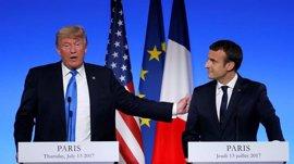 Trump y Macron acuerdan trabajar juntos para dar con una solución a la crisis con Corea del Norte