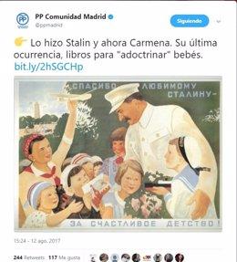 Tweet PP de Madrid