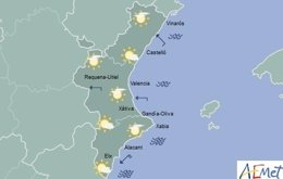 Sol en la gran mayoría de la región