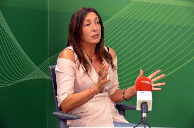 Loles López durante la entrevista