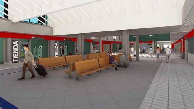Salamanca.- Recreación de cómo será la estación tras la reforma prevista en 2019