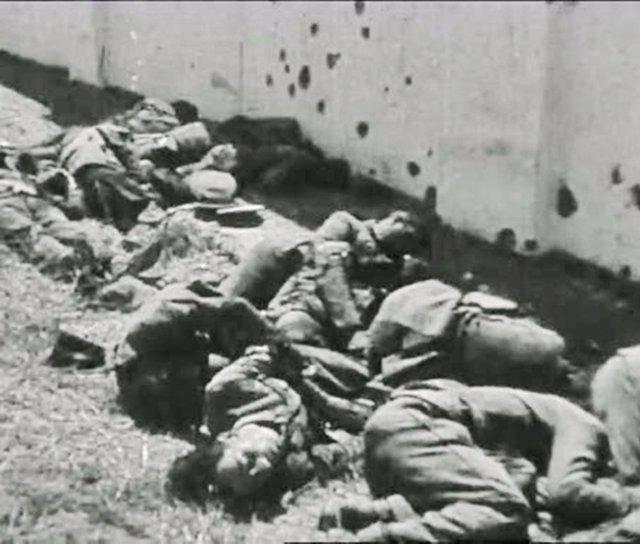 """Fusilados durante la """"matanza de Badajoz"""" en agosto de 1936"""