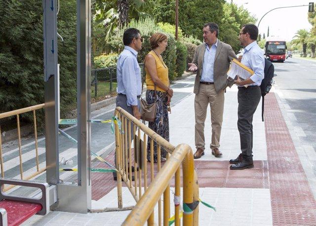 07/08/2017. Sevilla.  El Alcalde De Sevilla, Juan Espadas, Visita La Obra Y Adap