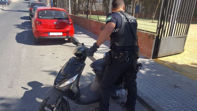 Ciclomotor robado
