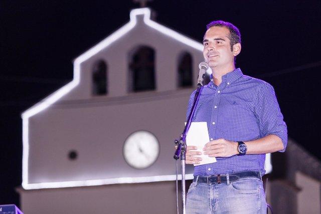El alcalde de Almería durante el pregón