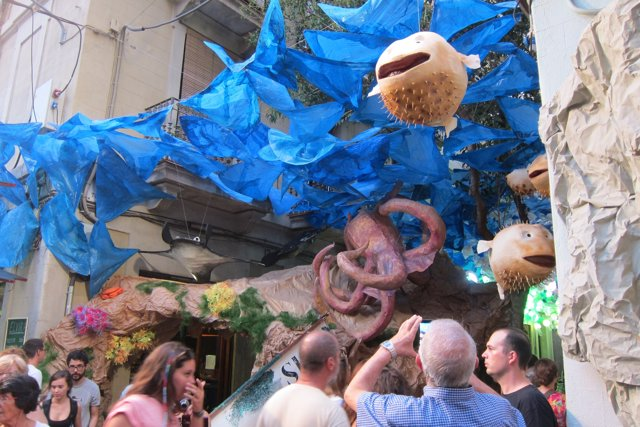 Fiestas de Gràcia 2016. Calles engalanadas