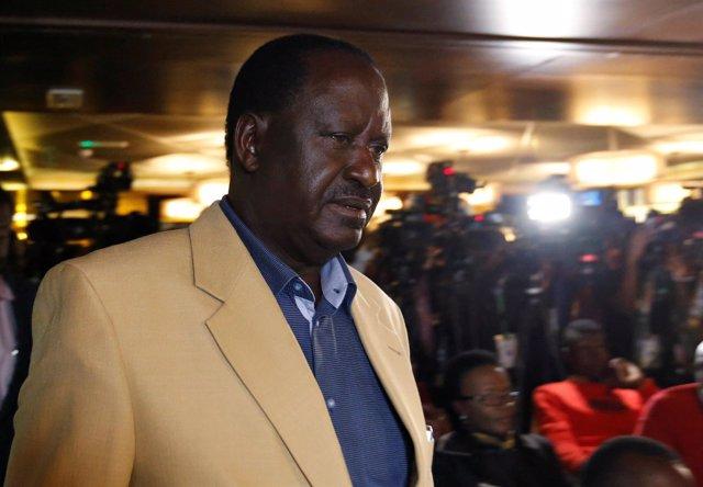 Raila Odinga, líder opositor de Kenia