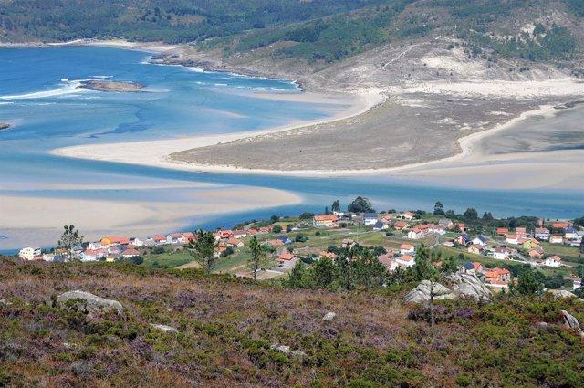 Zona afectada por la construcción del parque eólico.