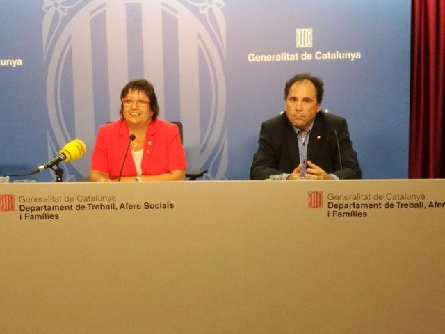 La consellera Dolors Bassa y Enric Vinaixa