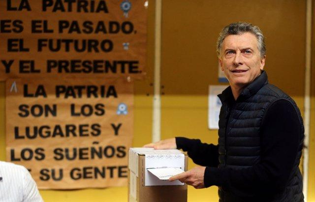 Mauricio Macri vota en las elecciones PASO
