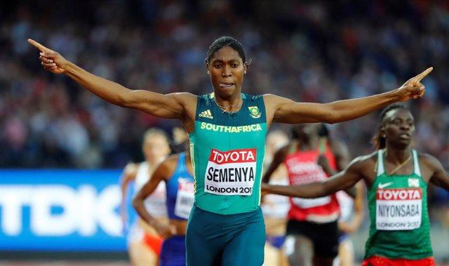 La atleta sudafricana Caster Semenya