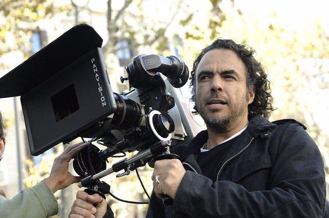 El cineasta Iñarritu durante una grabación