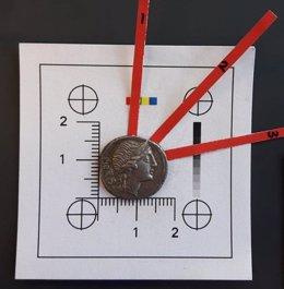 Moneda del Imperio Romano acuñada con plata española