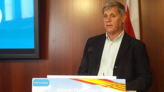El líder del PP en Barcelona, Alberto Fernández