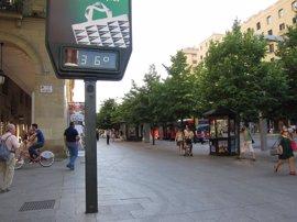 Nivel amarillo por temperaturas altas temperaturas en varias comarcas turolenses y la ribera del Ebro