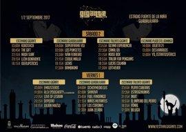 Horarios del Festival Gigante 2017