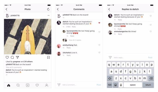 Instagram fils de comentaris i respostes xarxes socials