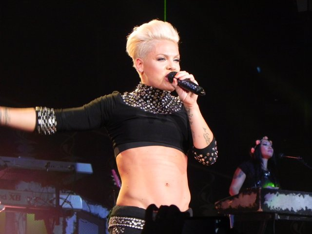 Pink Performs At The Staples Center In Los Angeles