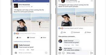 La nueva interfaz de Facebook reorganizará los comentarios y mostrará una imagen de perfil redonda
