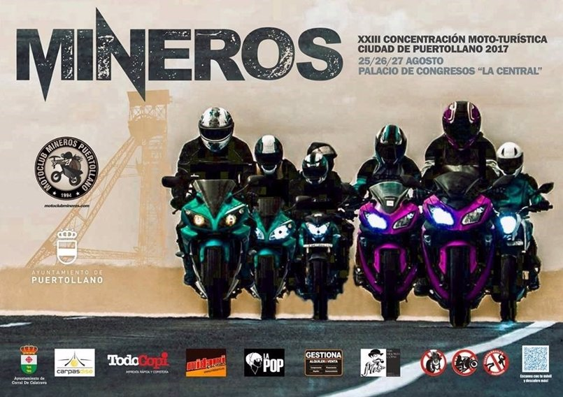 Fiestas moteras y conciertos, en la Concentración Mototurística Ciudad de Puertollano