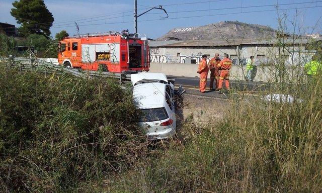 Accidente en la N-332, en Cullera (Valencia)