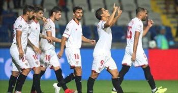 Escudero y Ben Yedder encaminan la Champions a Sevilla