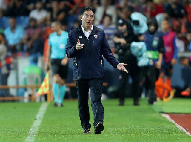 El técnico del Sevilla FC, Eduarzo Berizzo